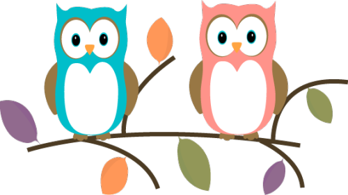 Two-owls-sitting-on-a-tree-branch-two-owls-sitting-on-a