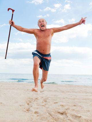 Blog aging old man jumping