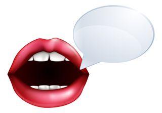 Blog mouth speaking