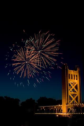 Fireworks bridge