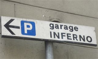 Road sign inferno