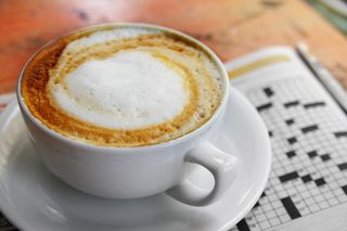 Blog cappucino and puzzle